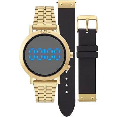 Relógio Euro Feminino Fashion Fit Dourado + 1 Pulseira de Brinde - EUBJ3407AA/T4P