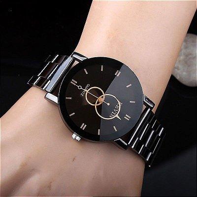 Relógio Kevin Diamond - Preto