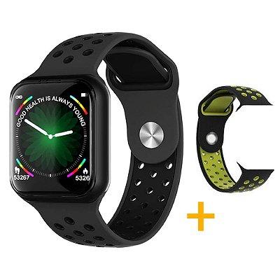 Relógio Smartwatch OLED Pró Série 3 42MM - Preto - iPhone ou Android + 1 Pulseira Brinde