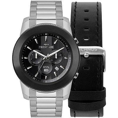 Smartwatch Technos Connect 3+ Prata - M1AC/5P + 1 Pulseira de Brinde