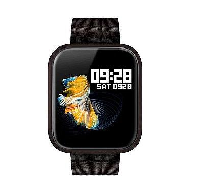 Relógio Eletrônico Smartwatch CF P70 - Preto Milanese