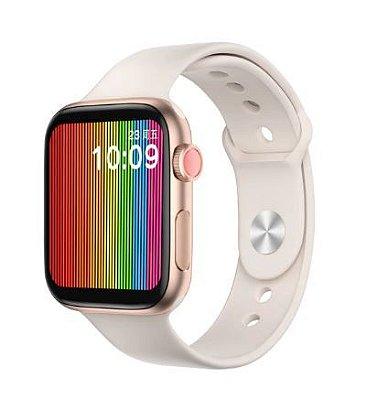 Relógio Eletrônico Smartwatch W68 - Rosa Claro - 44mm