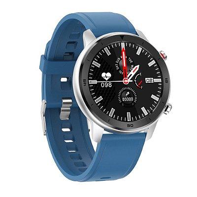 Relógio Eletrônico Smartwatch DT78 - Azul - IOS e Android