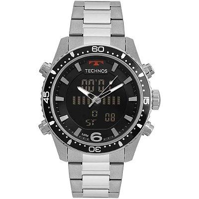 Relógio Technos Masculino Ts Anadigi - Prata - BJK203AAC/1P