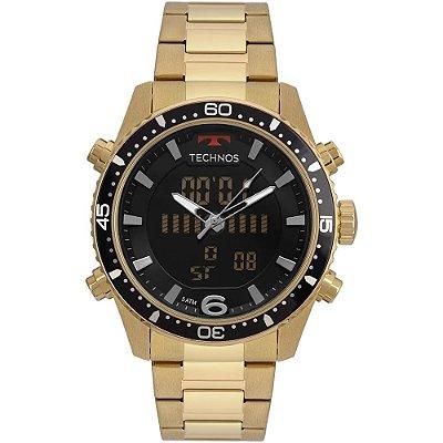 Relógio Technos Masculino Ts Anadigi - Dourado - BJK203AAD/4P