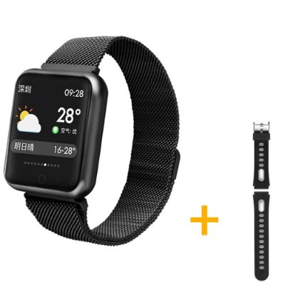 Relógio Eletrônico Smartwatch P68 Preto + Pulseira de Extra
