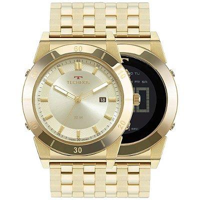 Relógio Technos Masculino Curvas - Dourado - 1S13CQ/4X