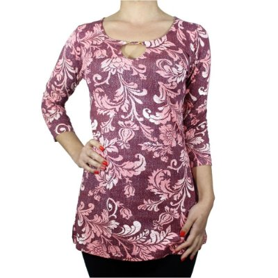 Tuniquete de Viscolycra Floral Rosa - Hanagriff