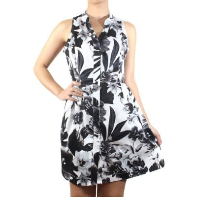 Vestido Floral P&B - NEFESHION