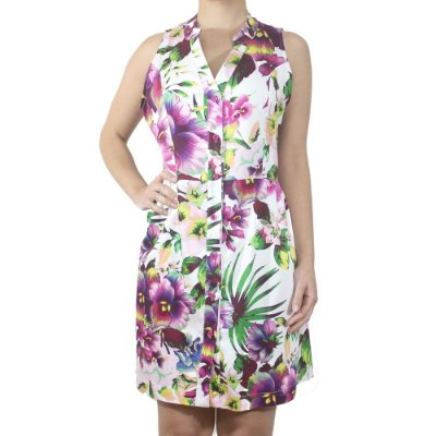 Vestido Floral Colorido - Neon Blush