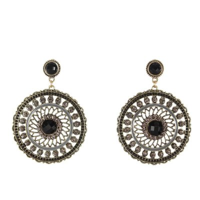 Maxi Brinco Mandala Com Strass - lookiando jewels