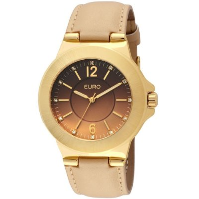 Relógio Analógico Euro Dax EU2035LQS/2X - Couro