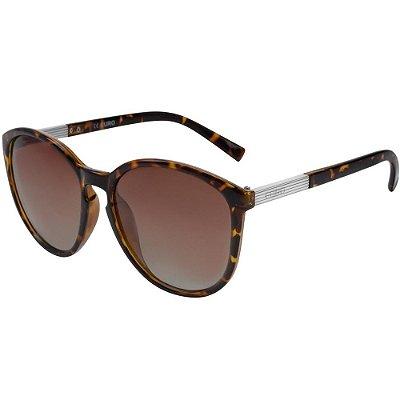 Óculos de Sol Euro Feminino Casco de Tartaruga OC035EU/2M - Marrom