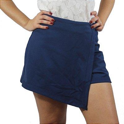 Shorts Saia Assimétrico Azul - TALGUI