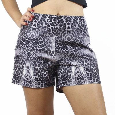 Shorts Hot Pants Animal Print Off White - Confession