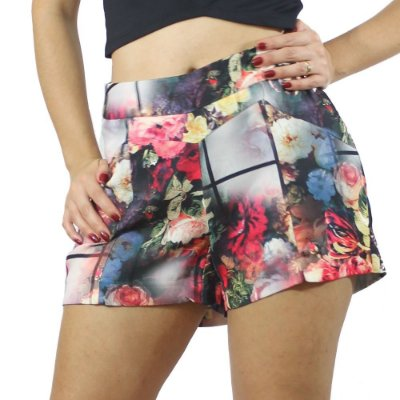 Shorts Hot Pants Floral - Confession