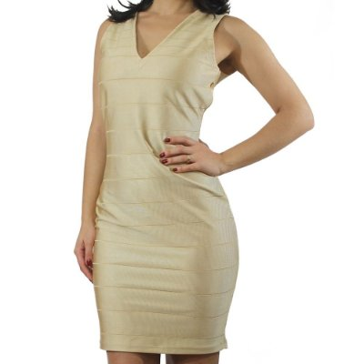 Dress Bandage Dourado - TALGUI