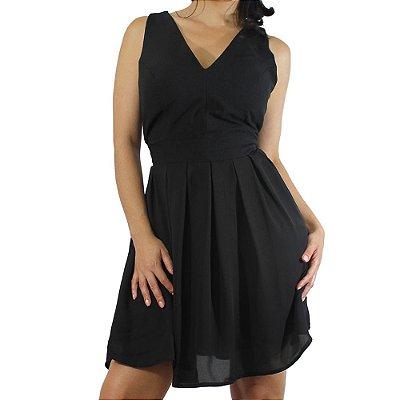 Dress com Detalhe Laço Cor Preto - TALGUI