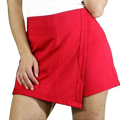 Shorts Saia Assimétrico Vermelho - TALGUI