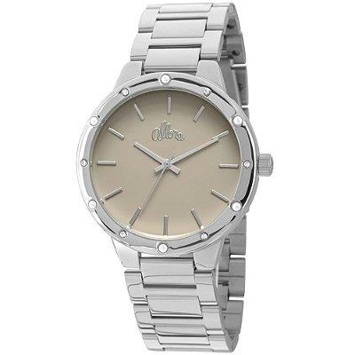Relógio Allora Feminino Prata com Strass - AL2035EZW/4C