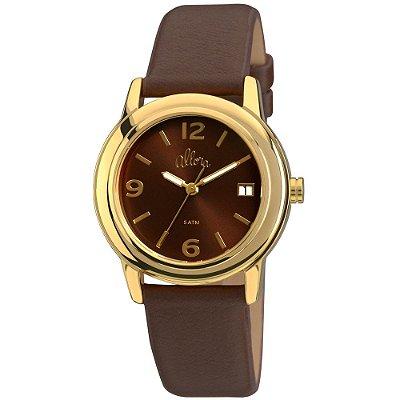 Relógio Allora Feminino Pulseira Couro - AL2115AG/2M