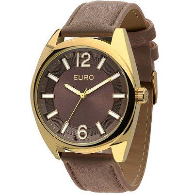 Relógio Euro Pulseira Couro Marrom - EU2035XYX/2M