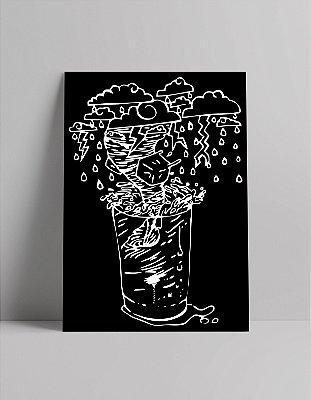 Poster Tempestade em Copo D'Água