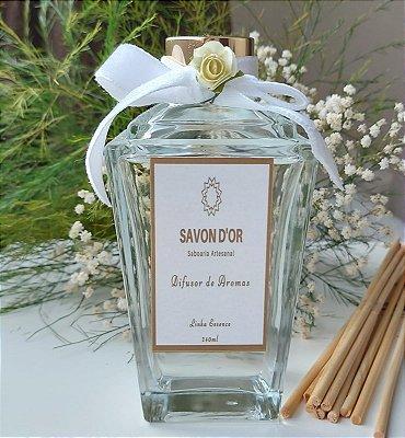Difusor de Aromas com varetas 240ml Linha Essence