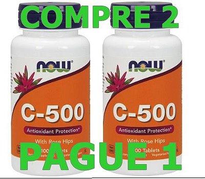 2 Vitamina C-500, com Rose Hips, 100 Tabs