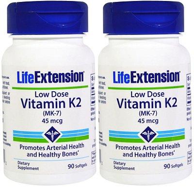 2 LIFE EXTENSION LOW-DOSE VITAMIN K2 | 45 MCG, 180 SOFTGELS