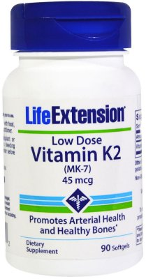 LIFE EXTENSION LOW-DOSE VITAMIN K2 | 45 MCG, 90 SOFTGELS