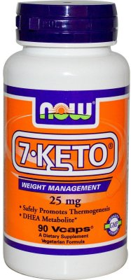 NOW FOODS 7-KETO® 25 MG - 90 VEG CAPSULES