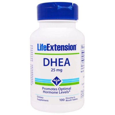 Life Extension DHEA | 25 mg, 100 dissolve in mouth tablets