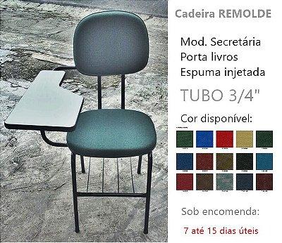REMOLDE: Cadeira Universitária REMOLDE secretária L DUPLO. Completa!
