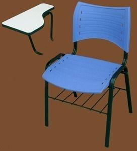 2D - Cadeira universitária iso com prancheta removível