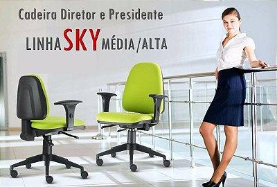 Cadeira giratória Frisokar Sky Média e alta secretária. O melhor preço do mercado