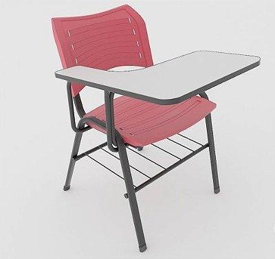 2E- Cadeira universitária ISO com pranchetão frontal completa