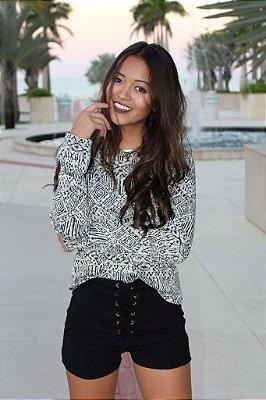Blusa de Tricot Boho Fashion