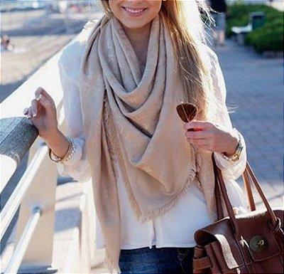 Pashmina Acetinada - Louis Vuitton Inspired