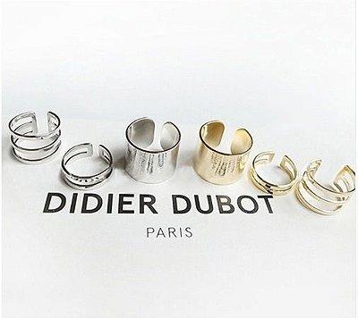 Conjunto De Anéis Dourado