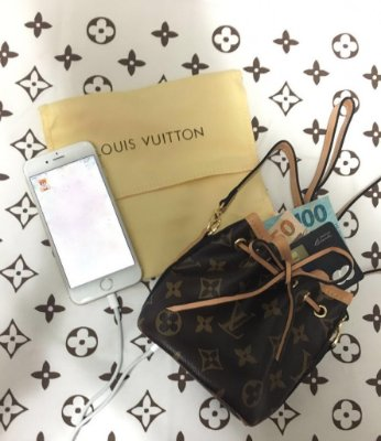 Bolsa Clutch Carregador Portátil - Louis Vuitton Inspired