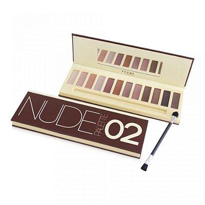 Paleta de Sombras Nude Palette Vivai Cor 02