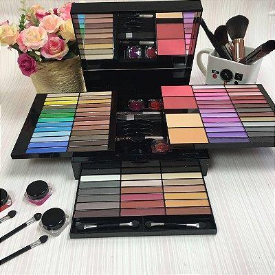 Kit Completo De Maquiagem Estojo Makeup Set 70 Sombras
