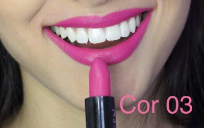 Batom Queen Makeup Matte -  Cor 03