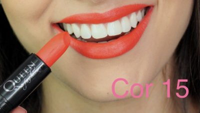 Batom Queen Makeup Matte - Cor 15