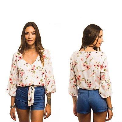 Short Com Aspecto De Jeans - Zahi P&V 17