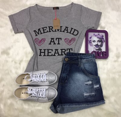 Tee Shirt Mescla Mermaid