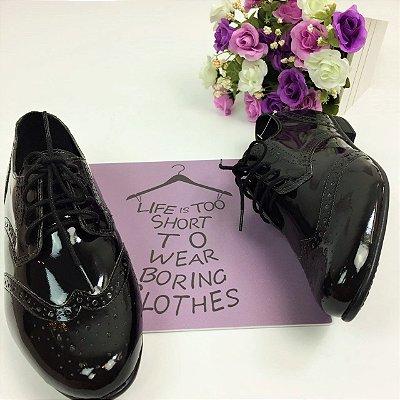 Sapato Oxford Envernizado - Preto