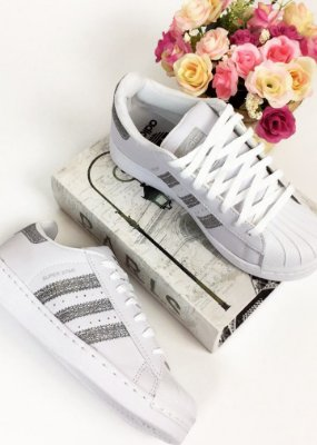 Tênis Casual Listras Glitter - Adidas Inspired