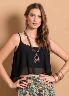 Top Cropped Chiffon